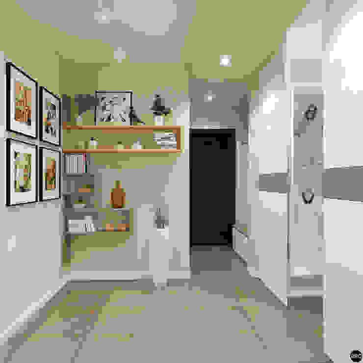2-к квартира для молодой семьи Коридор, прихожая и лестница в стиле минимализм от BRO Design Studio Минимализм