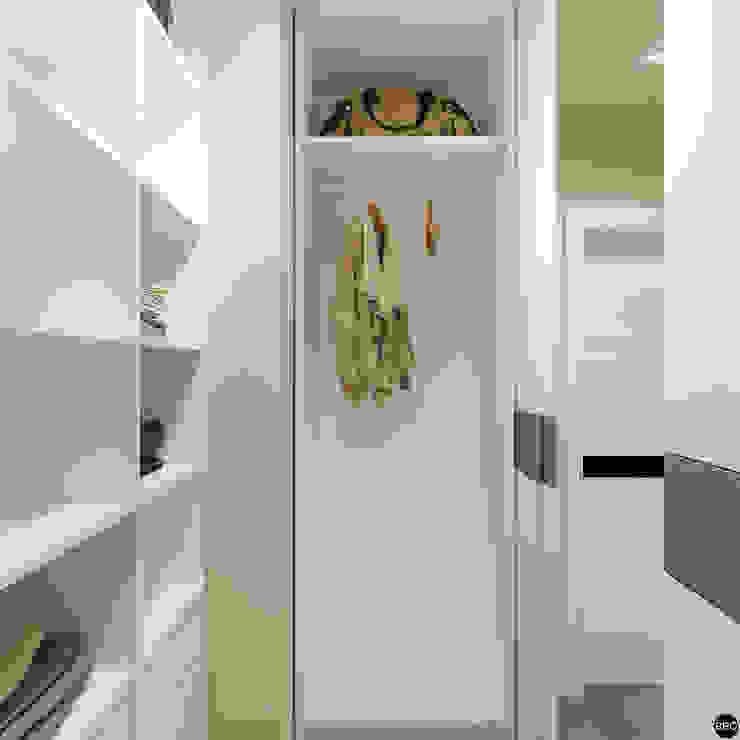 2-к квартира для молодой семьи Гардеробная в стиле минимализм от BRO Design Studio Минимализм