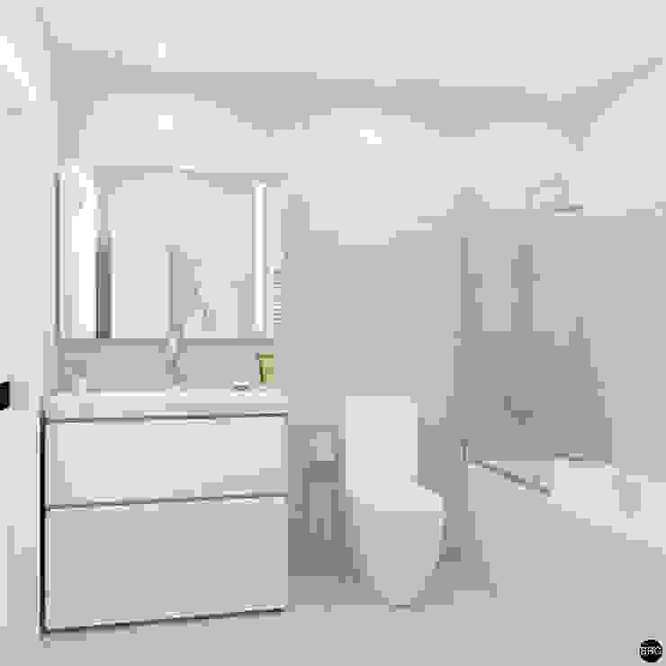2-к квартира для молодой семьи Ванная комната в стиле минимализм от BRO Design Studio Минимализм