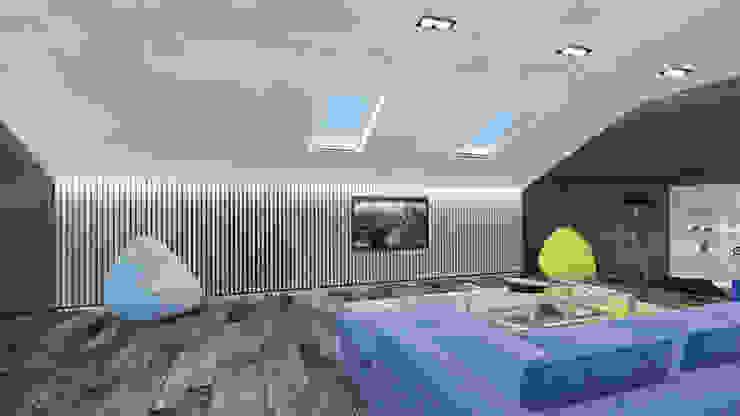 гостиная Гостиная в стиле минимализм от Архитектурная мастерская 'SOWA' Минимализм