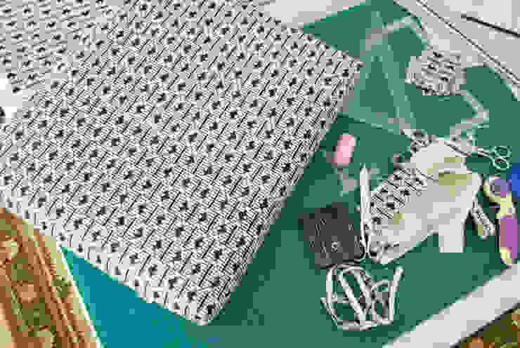 Confection des housses par Atelier Agnès Le Garrec Scandinave Coton Rouge