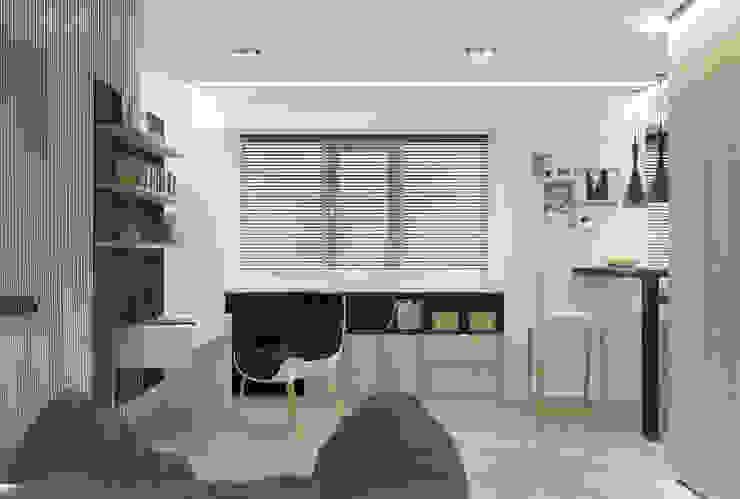 рабочее место Рабочий кабинет в стиле минимализм от Архитектурная мастерская 'SOWA' Минимализм