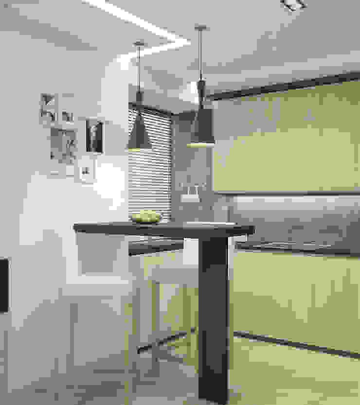 кухня Кухня в стиле минимализм от Архитектурная мастерская 'SOWA' Минимализм
