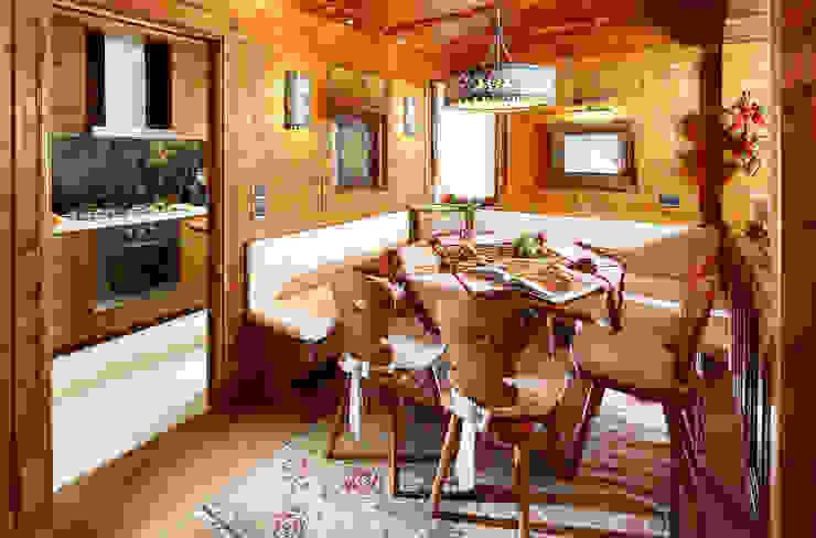 de estilo  por Ambra Piccin Architetto, Rústico Madera Acabado en madera