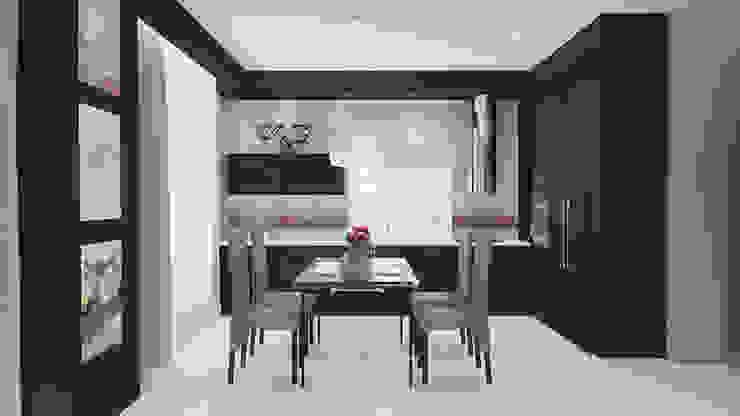 Cocinas de estilo minimalista de Архитектурная мастерская 'SOWA' Minimalista