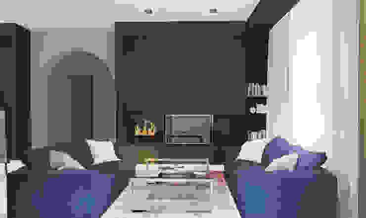 Minimalist living room by Архитектурная мастерская 'SOWA' Minimalist