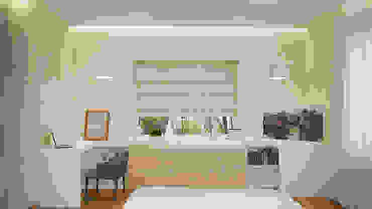 Dormitorios minimalistas de Архитектурная мастерская 'SOWA' Minimalista