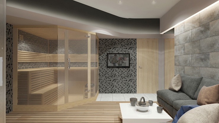 Spas de estilo minimalista de Архитектурная мастерская 'SOWA' Minimalista