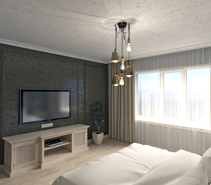 Спальная комната Спальня в стиле лофт от VB-Design Лофт