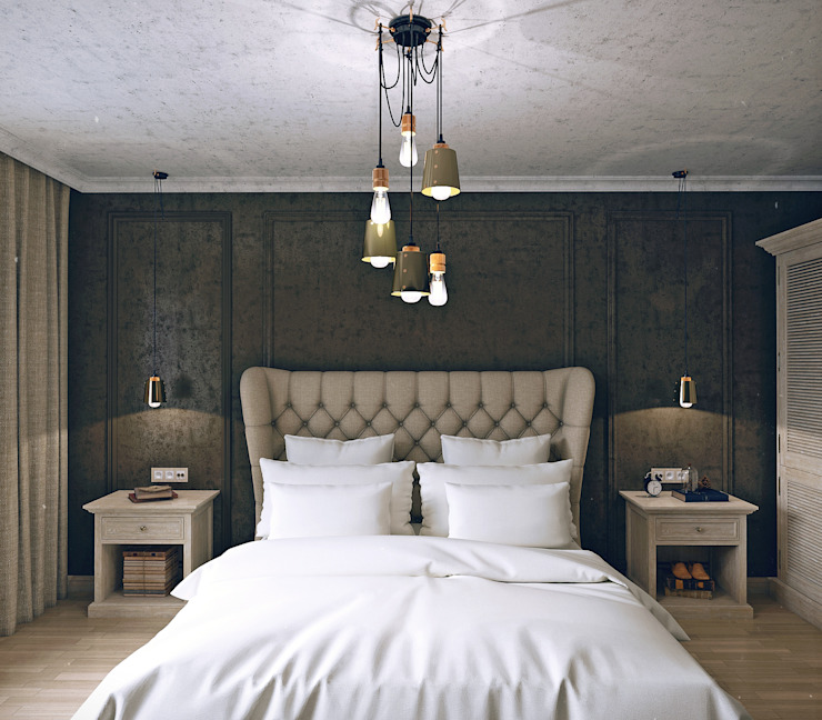 Industrial style bedroom by VB-Design Industrial