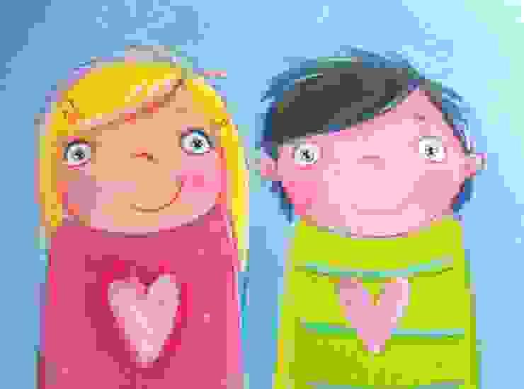 modern  by Mimi&Loui, Modern Flax/Linen Pink