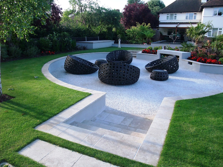 A private garden, Surrey Taman Modern Oleh Bowles & Wyer Modern