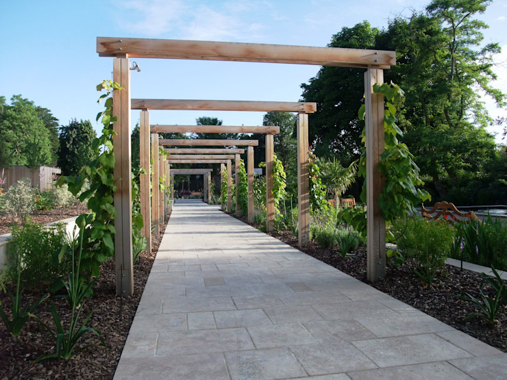 A private garden, Surrey Bowles & Wyer Modern garden