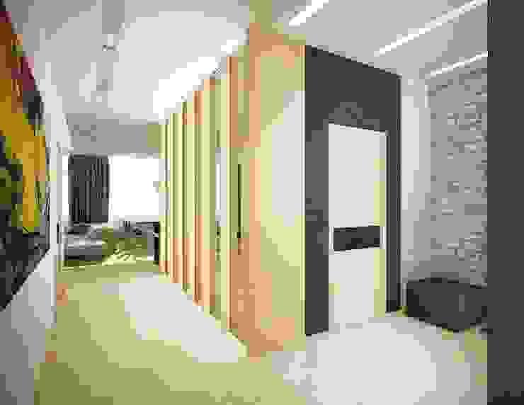 Авеню 77-2 Коридор, прихожая и лестница в стиле лофт от ООО 'Студио-ТА' Лофт