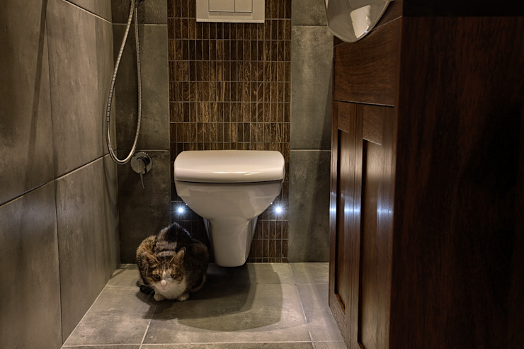 łazienka z kotem od Zbigniew Winiarczyk
