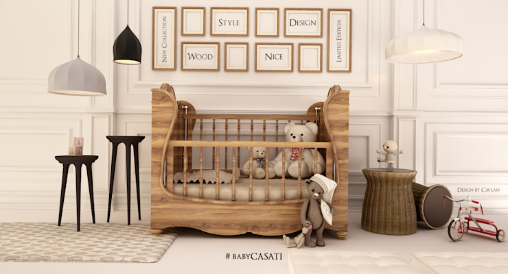 babyCASATI Nursery/kid's roomBeds & cribs خشب