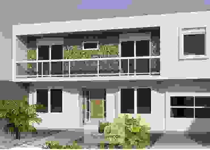 Projeto da fachada - Moradaverde arquitetura Casas modernas por homify Moderno