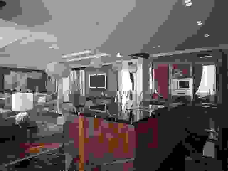 Проект квартиры в Саратове в стиле эклектики Кухни в эклектичном стиле от Студия авторского дизайна БОН ТОН Эклектичный