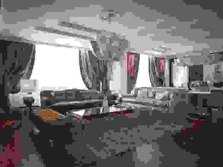 Проект квартиры в Саратове в стиле эклектики Гостиные в эклектичном стиле от Студия авторского дизайна БОН ТОН Эклектичный