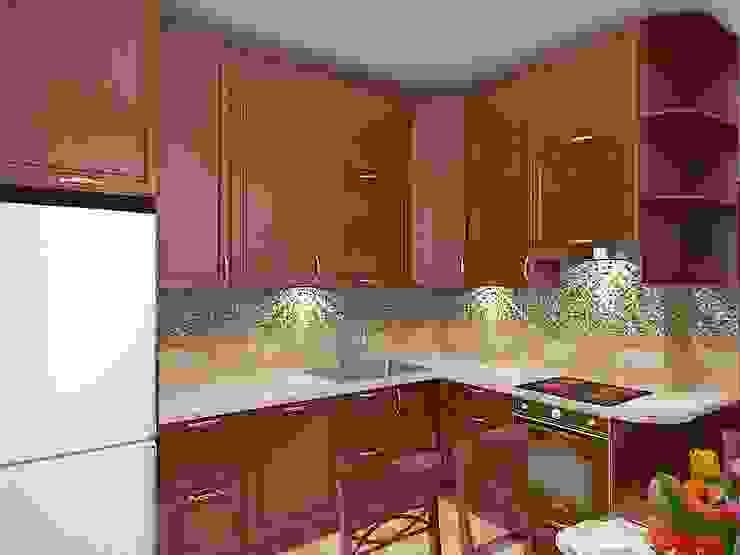 Современный облик квартиры с классическими элементами Кухня в классическом стиле от Дизайн студия Марины Геба Классический