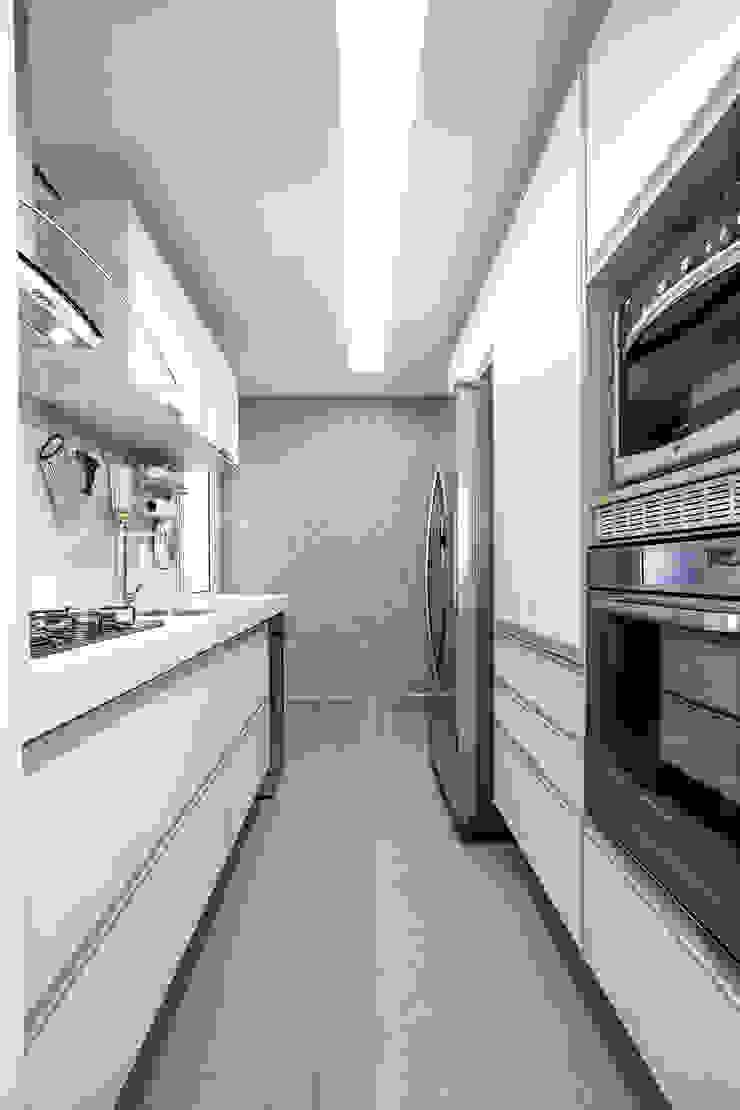 Papel de parede deu aconchego Cozinhas ecléticas por Adriana Pierantoni Arquitetura & Design Eclético