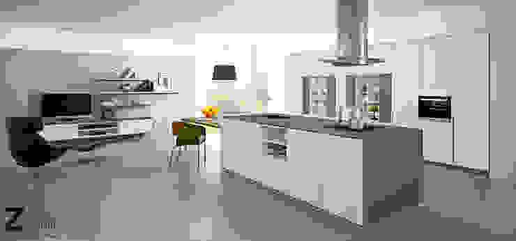 Proyecto de cocina con mobiliario antihuella Zenit. Cocinas de estilo moderno de ALVIC Moderno
