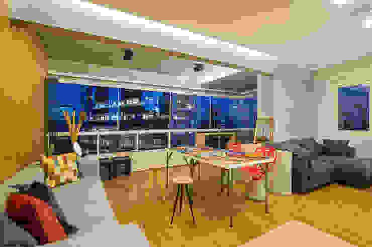 Ruang Makan Modern Oleh Casa100 Arquitetura Modern