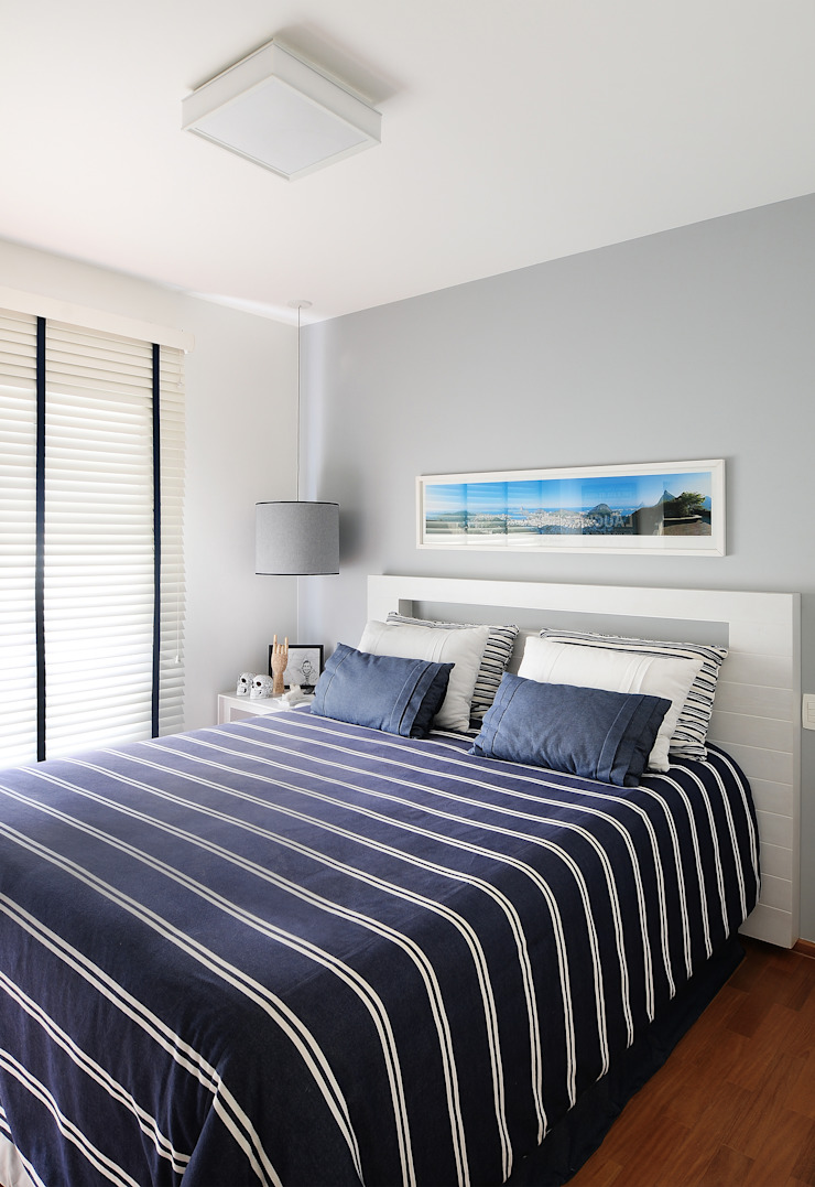 Thaisa Camargo Arquitetura e Interiores Modern style bedroom Blue
