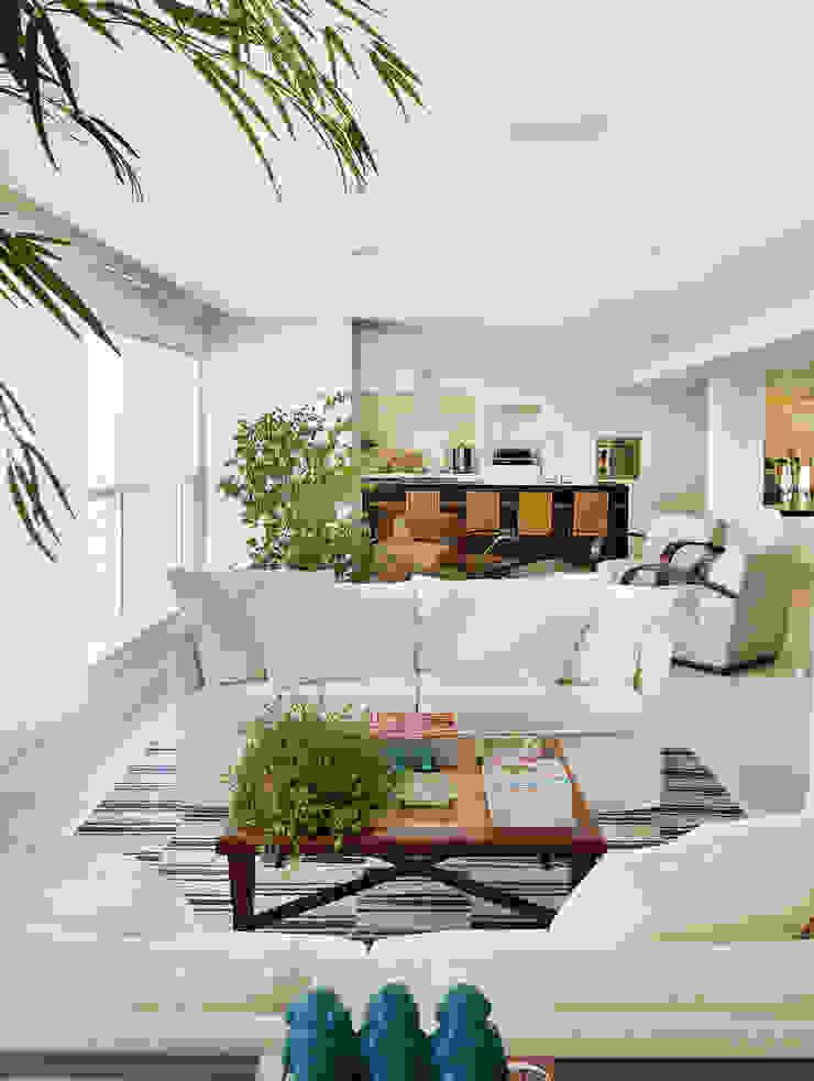 Thaisa Camargo Arquitetura e Interiores Modern balcony, veranda & terrace Multicolored