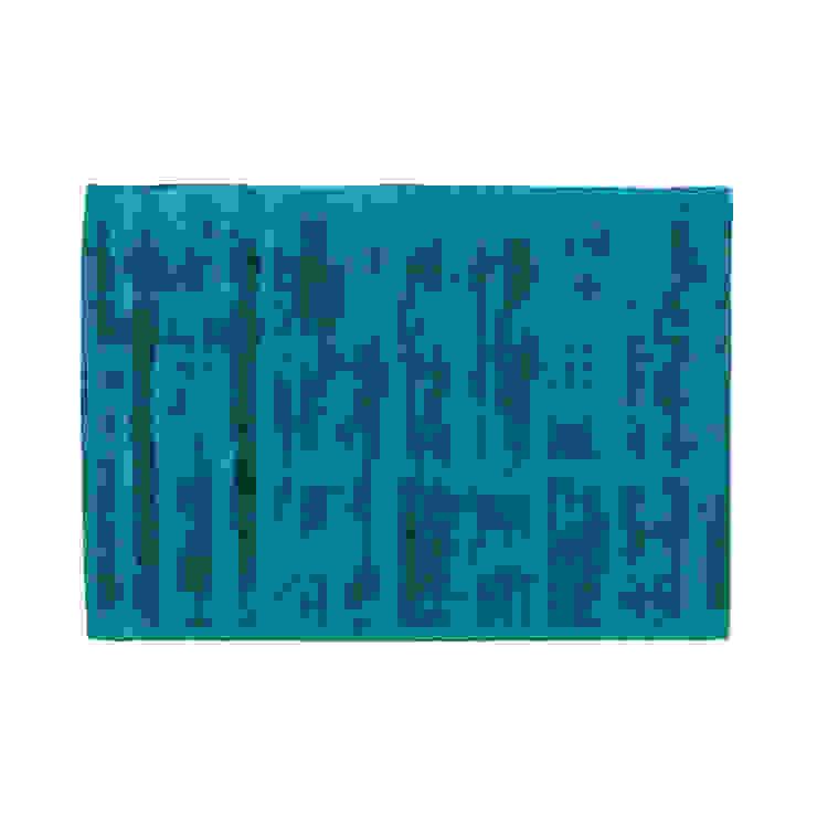 Rug NICE Turquoise por Korkrugs Moderno