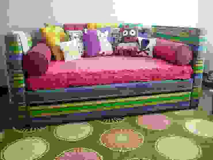 por Artmosfera Kids Eclético Têxtil Ambar/dourado