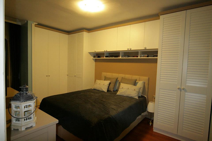 モダンスタイルの寝室 の Hilal Tasarım Mobilya モダン