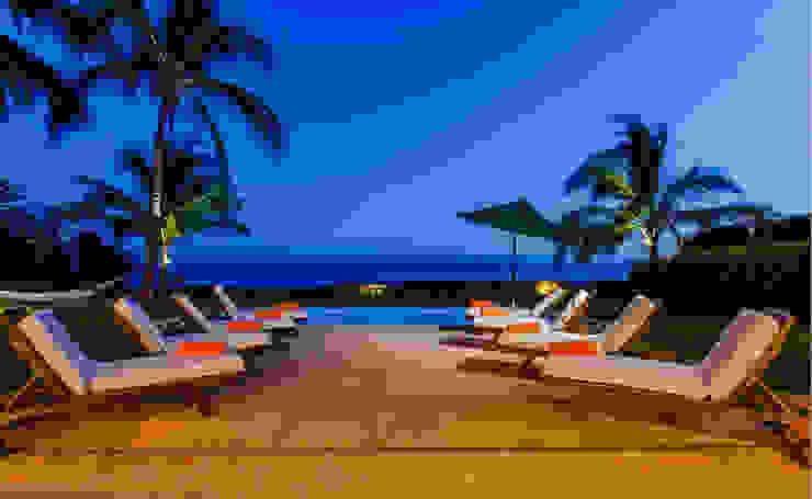 Casa Tortugas Balcones y terrazas de estilo tropical de BR ARQUITECTOS Tropical