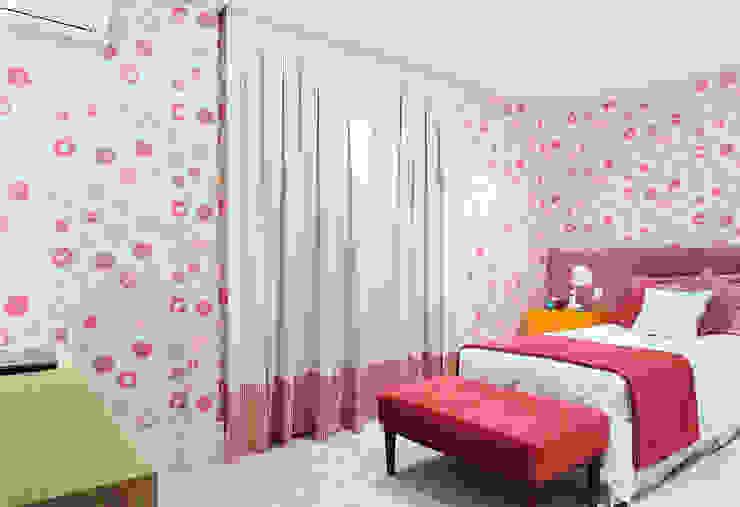 Projekty,  Pokój dziecięcy zaprojektowane przez BRENO SANTIAGO ARQUITETURA E INTERIORES,