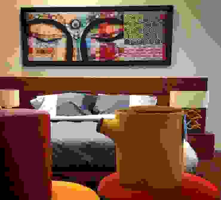 HOSTAL_15 Dormitorios modernos de 11:11 Arte Contemporaneo Moderno Madera Acabado en madera