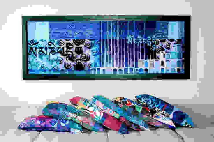 Hostal_18 Casas modernas de 11:11 Arte Contemporaneo Moderno Madera Acabado en madera