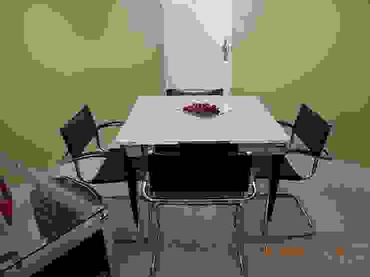 Apartamento Palmas do Tremembé Salas de jantar modernas por VT Design - Arquitetura e Interiores Moderno Vidro