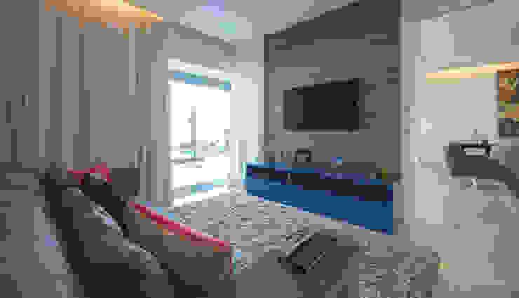 Residência - Tamboré Salas multimídia modernas por Moran e Anders Arquitetura Moderno