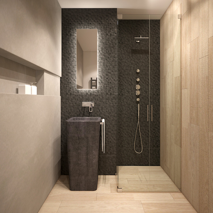 Minimal style Bathroom by homify Minimalist
