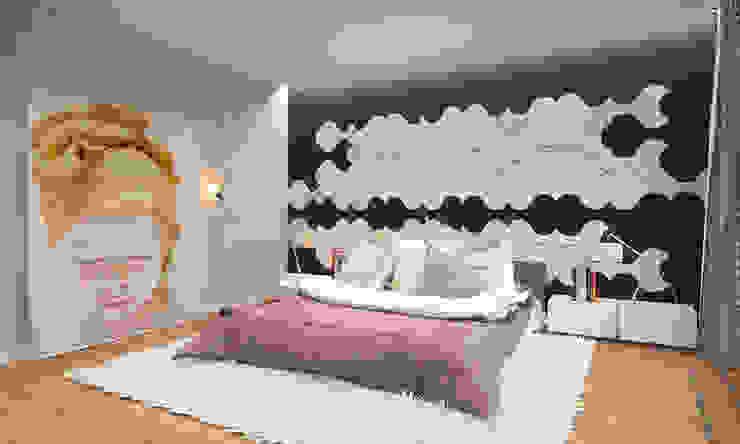 Minimalistyczna sypialnia od homify Minimalistyczny