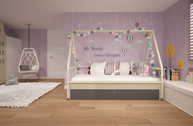 Minimalist nursery/kids room by homify Minimalist