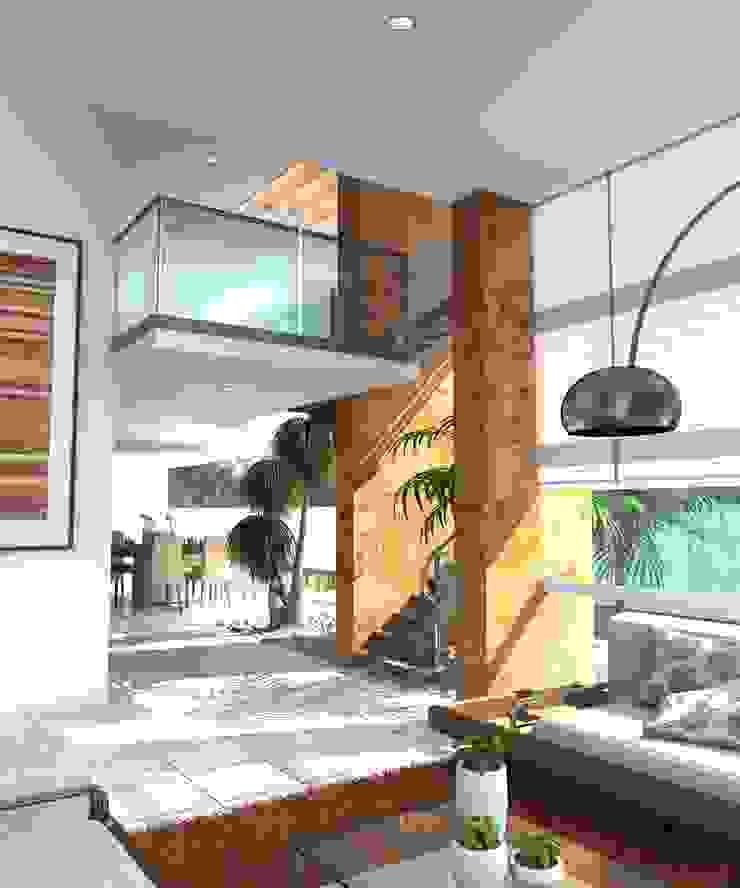 Minimalist corridor, hallway & stairs by Milla Arquitectos S.A. de C.V. Minimalist
