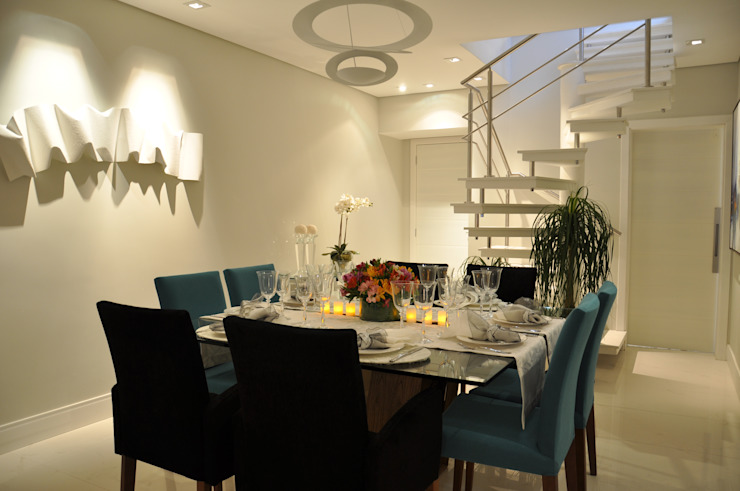 Comedores de estilo  por Varinia Schwartz Arquitetura & Interiores