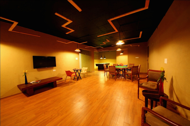 SKI Villa @ Aamby Valley, Lonavala, Pune Modern media room by GreenLounge Modern