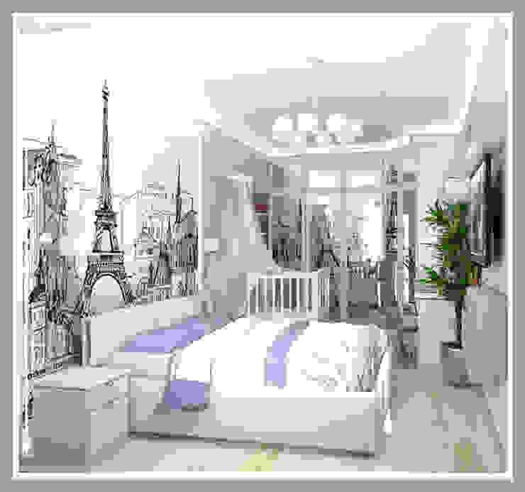Комната для молодой семьи Вид 1 Спальня в стиле минимализм от Рязанова Галина Минимализм
