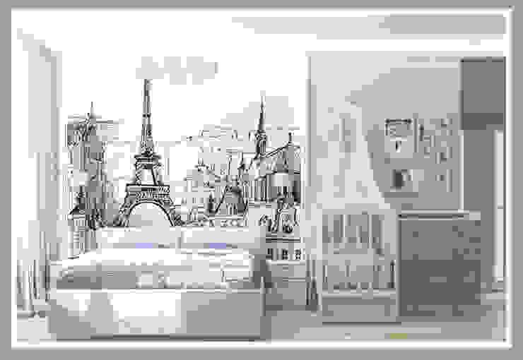 Комната для молодой семьи Вид 2 Спальня в стиле минимализм от Рязанова Галина Минимализм