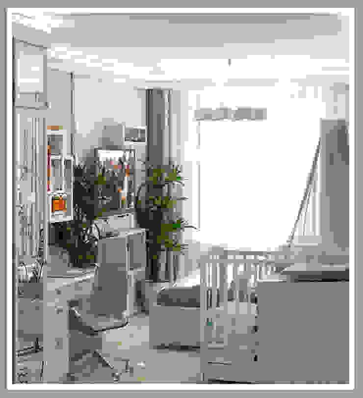 Комната для молодой семьи Вид 4 Спальня в стиле минимализм от Рязанова Галина Минимализм