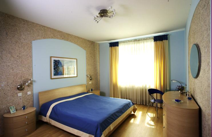 Реализованный проект интерьеров квартиры 124 кв. метра в ЖК Город солнца Спальня в стиле минимализм от интерьеры от частного дизайнера Минимализм