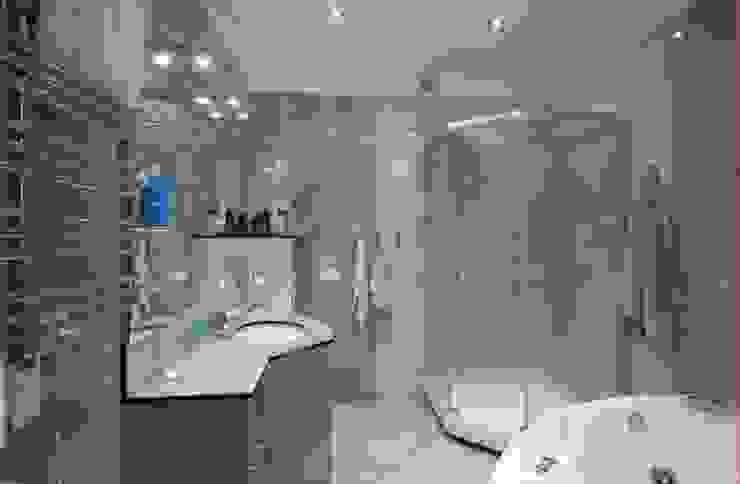 Реализованный проект интерьеров квартиры 124 кв. метра в ЖК Город солнца Ванная комната в стиле минимализм от интерьеры от частного дизайнера Минимализм