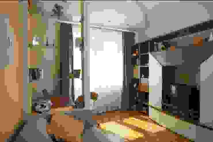 Реализованный проект интерьеров квартиры 124 кв. метра в ЖК Город солнца Детская комнатa в стиле минимализм от интерьеры от частного дизайнера Минимализм